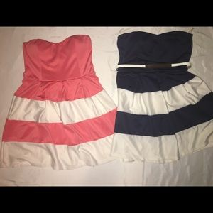 Dresses & Skirts - Strapless Dress with Belt $8/Piece or 2 for $12 👗
